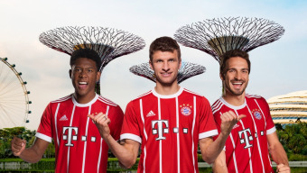 Follow FC Bayern <br />from China to Singapore