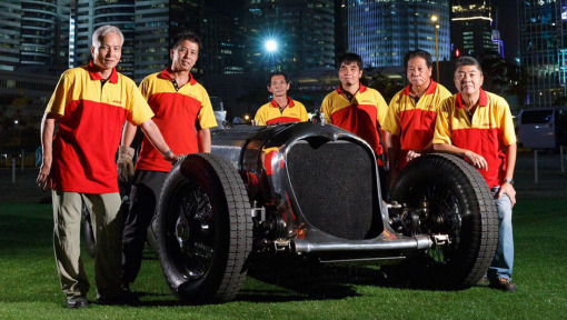 DHL delivers record-holding 1930s race car to Hong Kong Classic motor show
