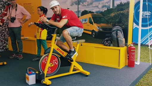DHL Experience in the eVillage: The Power Bikes
