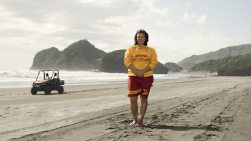 Marking a decade of DHL's surf life-saving sponsorship in New Zealand