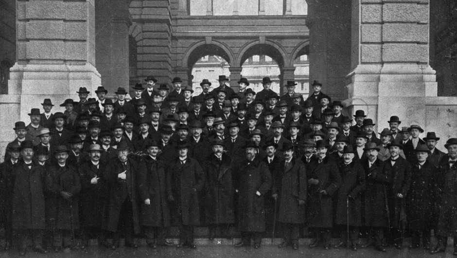 The Gewandhausorchester on its first tour in 1916 (Credit: Gewandhaus Archive)