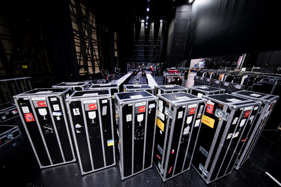 More than a hundred instruments are securely packed in these specially-designed cases